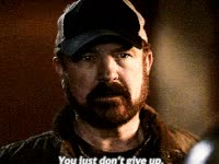 Watch and share Supernatural, Bobby Singer, Dont Give Up GIFs on Gfycat