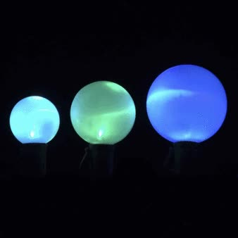 Watch and share Deco Balls G30, G40, G50 25 LED Christmas Light String, Green Wire, 16.7 Feet Long, 8 In. Spacing (Color Changing) GIFs on Gfycat