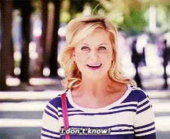 Watch and share I Don't Know GIFs and Leslie Knope GIFs on Gfycat