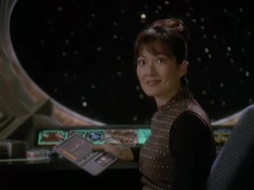deep space nine, ds9, keiko o'brien, reaction, rosalind chao, star trek, star trek deep space nine, wink, Keiko O'Brien Reaction 1 GIFs
