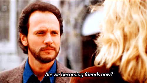 Watch this trending GIF on Gfycat. Discover more billy crystal, friend zone, friends, girls on film, meg ryan, nora ephron, romance, romantic comedies, romantic comedy, when harry met sally GIFs on Gfycat