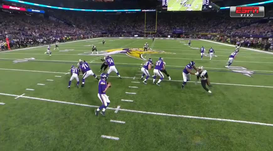 Minnesota Vikings, NFL, New Orleans Saints, Playoffs, Touchdown, NFL GIFs
