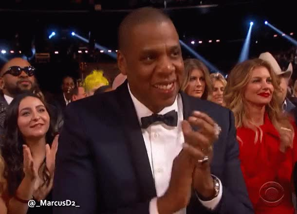 Watch and share Jay Z Clapping At The Grammys GIFs by MarcusD on Gfycat