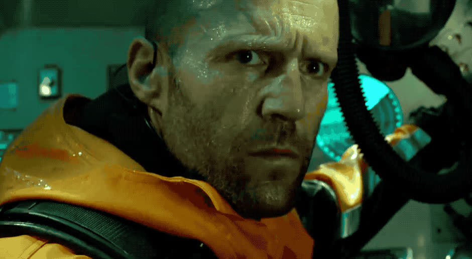 afraid, around, god, horrified, jason, look, meg, my, oh, omg, oops, scared, statham, that, trailer, wait, was, what, who, wtf, The Meg is here GIFs