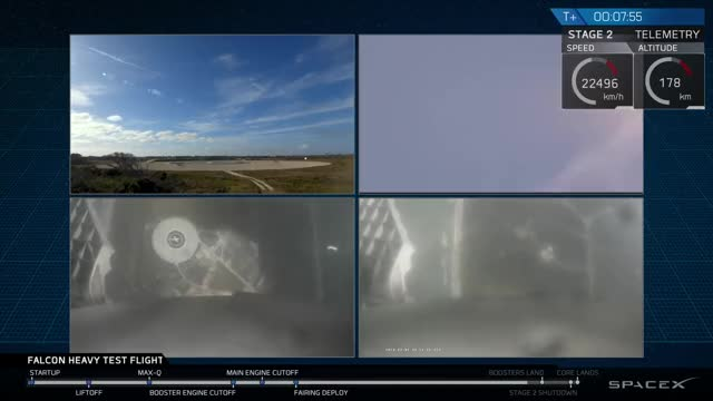 Watch Falcon Heavy Test Flight GIF on Gfycat. Discover more falcon heavy, kdavid9105, landing, spacex GIFs on Gfycat