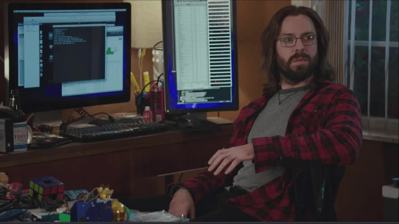Kumail Nanjiani, Martin Starr, SiliconValleyHBO, T J Miller, funny, todayilearned, This is the closest Gilfoyle has ever gotten to a smile. (reddit) GIFs