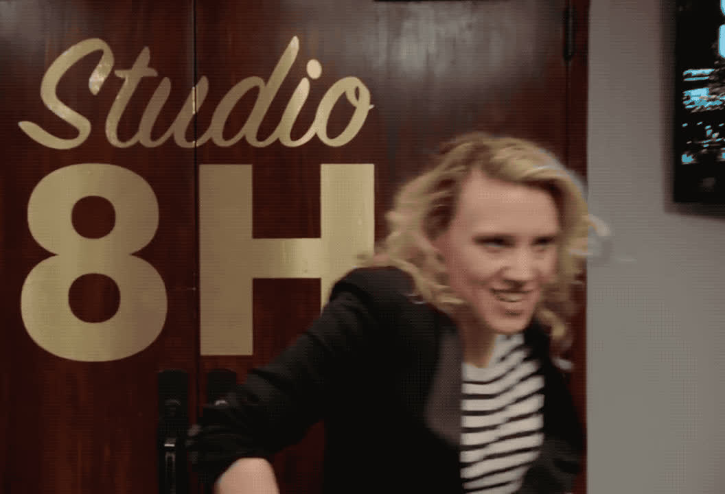 boseman, celebrate, chadwick, excited, exciting, funny, happy, kate, live, lol, mckinnon, night, saturday, snl, tada, vibranium, woohoo, yay, yeah, yes, Kate McKinnon - Tada GIFs