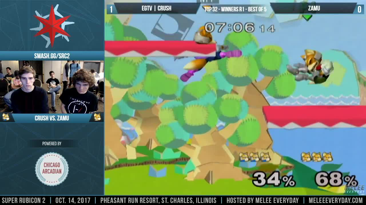 ssbm melee crush zamu fox, The Crush-O peek version 2 GIFs