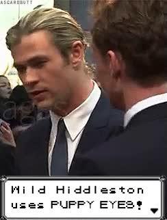 Watch and share Tom Hiddleston Chris Hemsworth Avengers Hiddlesworth Ignore Me I GIFs on Gfycat