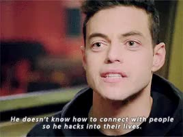 Watch 1996 GIF on Gfycat. Discover more *, elliot alderson, gifset, interview, mr robot, mr. robot, mrrobotedit, rami malek GIFs on Gfycat