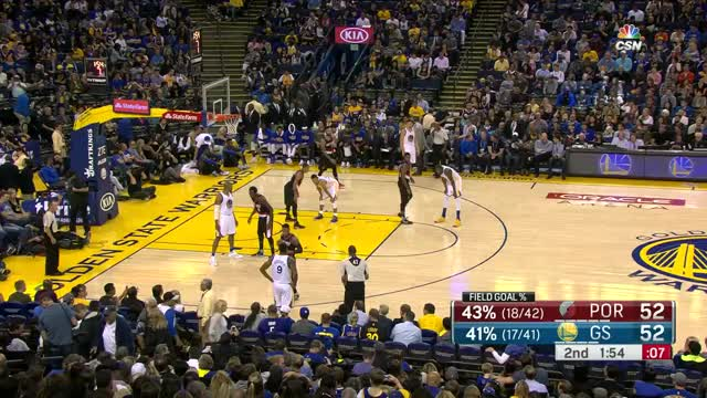 Watch and share Kevin Durant Inbound Alley-Oop Dunk | Blazers Vs Warriors | October 21, 2016 | 2016-17 NBA Preseason GIFs on Gfycat