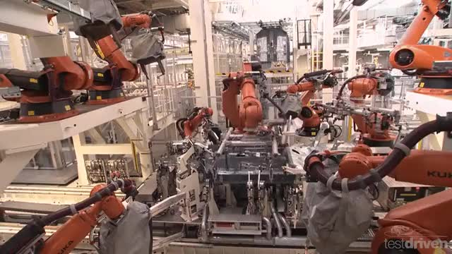 Watch and share Machines In A Factory Welding Away A New VW Golf 7 GIFs by heun3344 on Gfycat