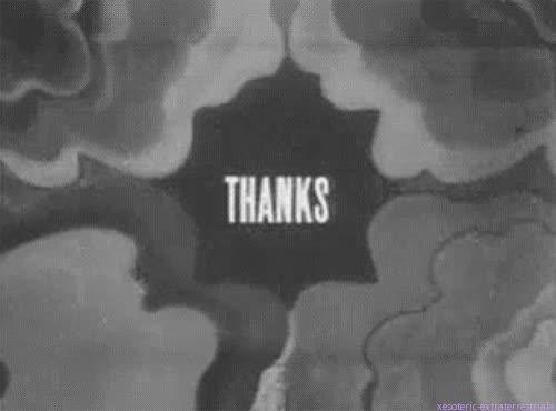 black and white, gracias, gratitude, retro, thank you, thanks, Thanks GIFs