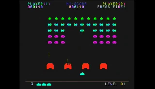 Watch and share AtGames Atari Flashback 6: Space Invaders GIFs on Gfycat