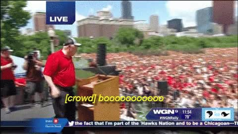 Watch Quinn being booed at blackhawks parade GIF on Gfycat. Discover more related GIFs on Gfycat
