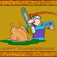 Watch and share Halloween Chainsaw Turkey Carve Carves Carving Happy Thanksgiving Animations Animation Animated Gif Gifs GIFs on Gfycat