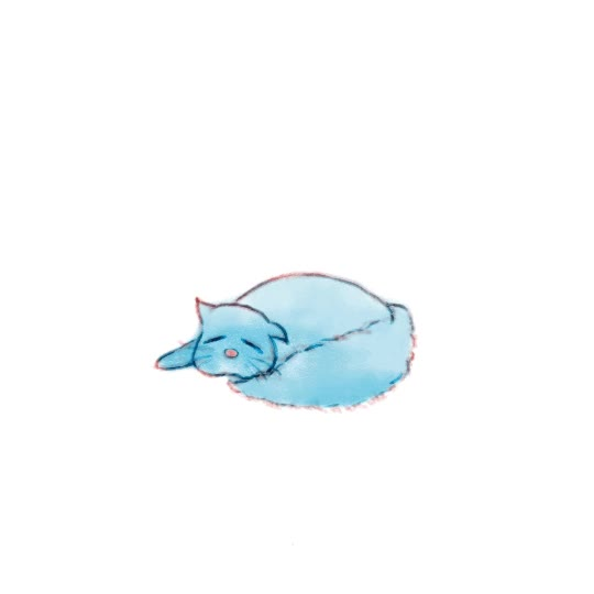 Watch and share Анимация Спящий Голубой Котик На Белом Фоне, Гифка GIFs on Gfycat