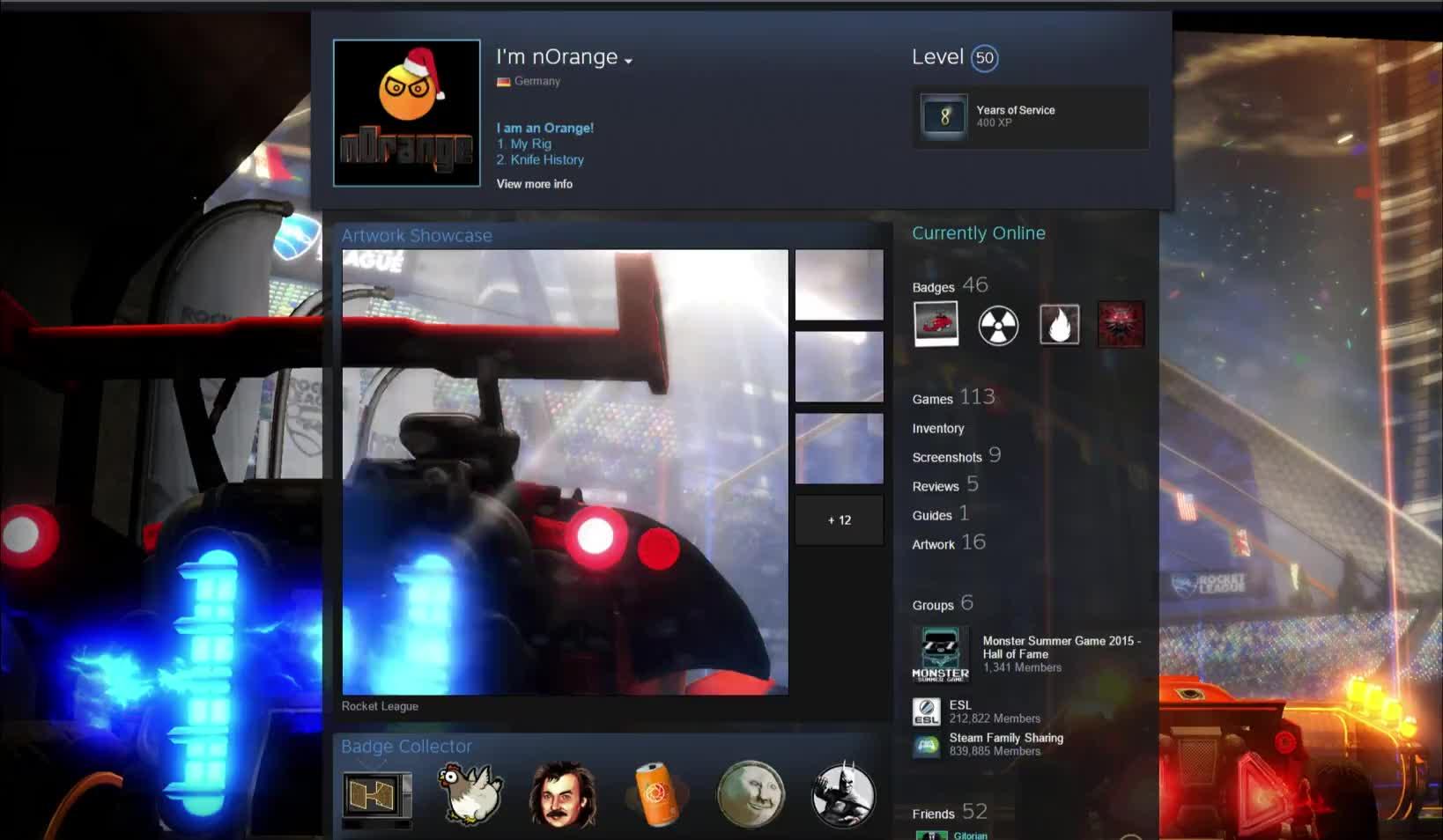 RocketLeague, SteamArtworkProfiles, Rocket League Steam Profile GIFs