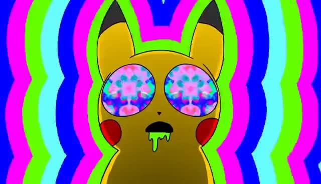 Watch and share Pikachu On Acid (1080p HD) GIFs on Gfycat