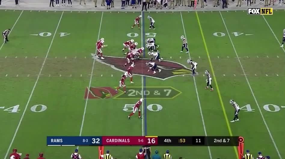 Quinn sack Cardinals 2 GIFs
