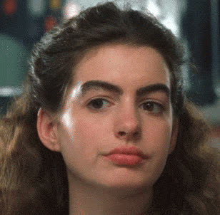 anne, eyebrows, flirt, flirty, funny, girl, hathaway, hey, huge, sexy, there, Flirty Anne Hathaway GIFs