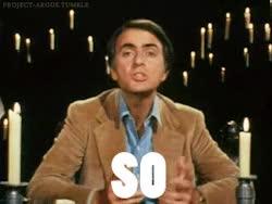Watch and share Carl Sagan GIFs on Gfycat