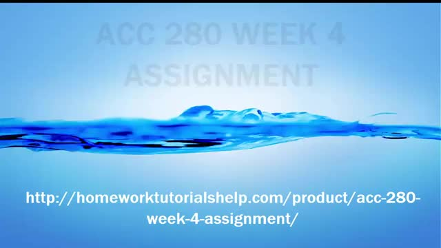Watch ACC 280 WEEK 4 ASSIGNMENT GIF by @homeworktutorials on Gfycat. Discover more ACC 280, Assignment, Week 4 GIFs on Gfycat