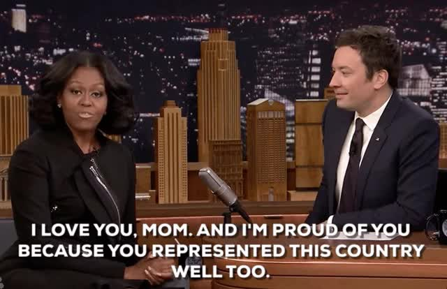 Watch and share Michelle Obama GIFs and Jimmy Fallon GIFs on Gfycat