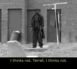Terrell, thewire, thinks, wires01e09,  GIFs