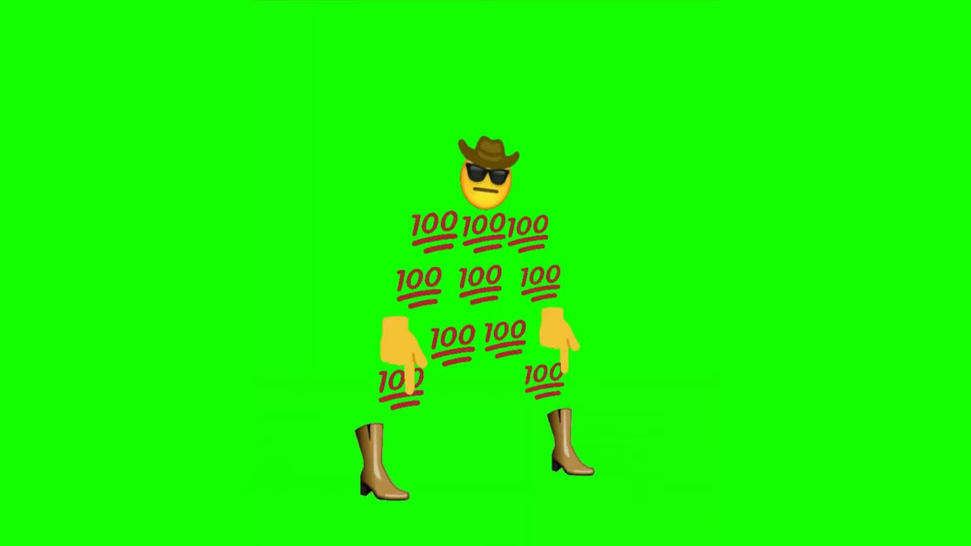 Cowboy Emoji Man Fortnite Default Dancing Free Greenscreen DL IN DESC