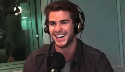 headphones, laughing, liam hemsworth headphones GIFs