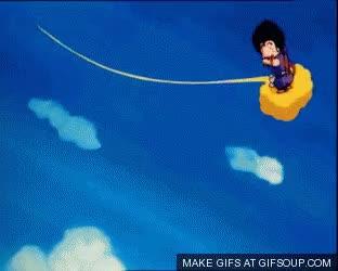 Watch and share Kid Goku On Nimbus GIFs on Gfycat