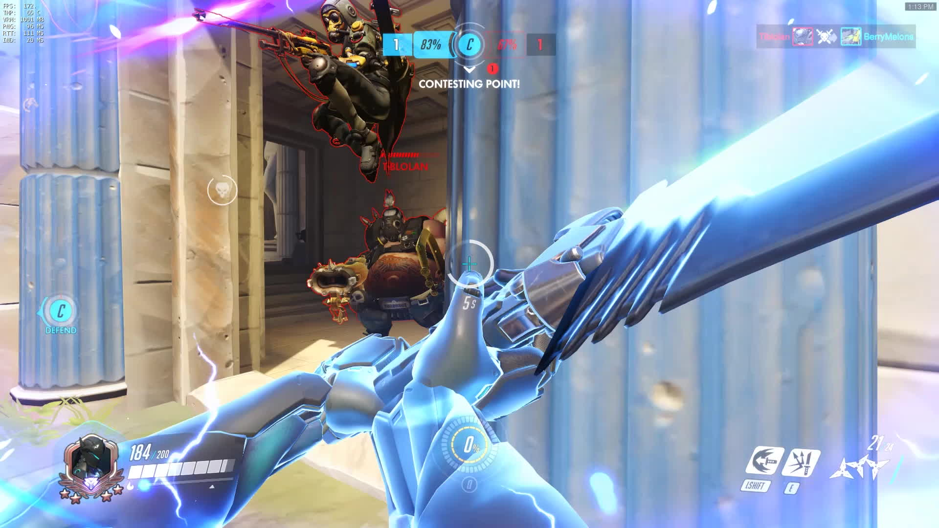 competitiveoverwatch, 6 man genji ult + dash resets GIFs