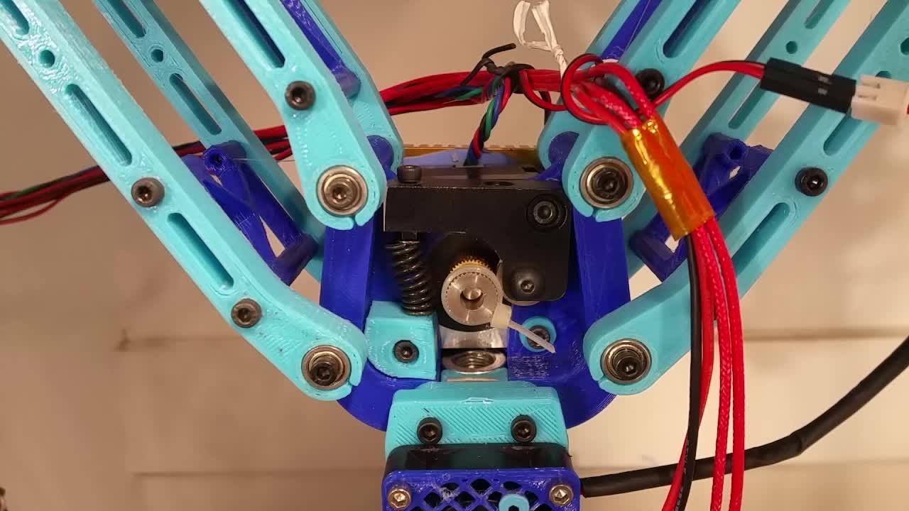 3D Printer, 3D Printing, Deltesian, E vs Y_Axis Test: G0 F500, G91, G1 Y-100.0 E-100.0 GIFs
