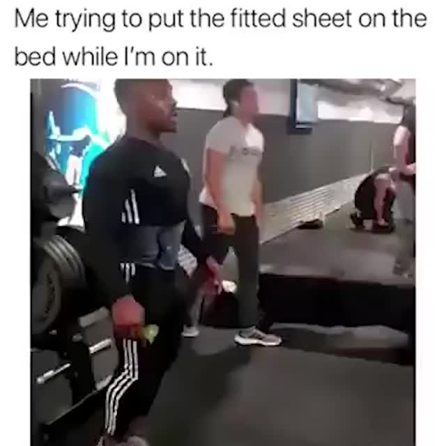 Me trying to put the fitted sheet