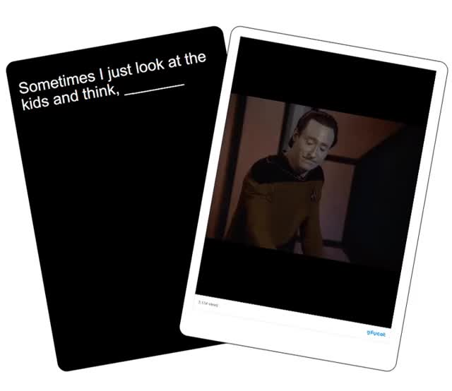 Watch Star Trek Gifs Against Humanity GIF by Star Trek gifs (@star-trek-gifs) on Gfycat. Discover more Brent Spiner, Cards Against Humanity, Data, TNG, The Next Generation GIFs on Gfycat