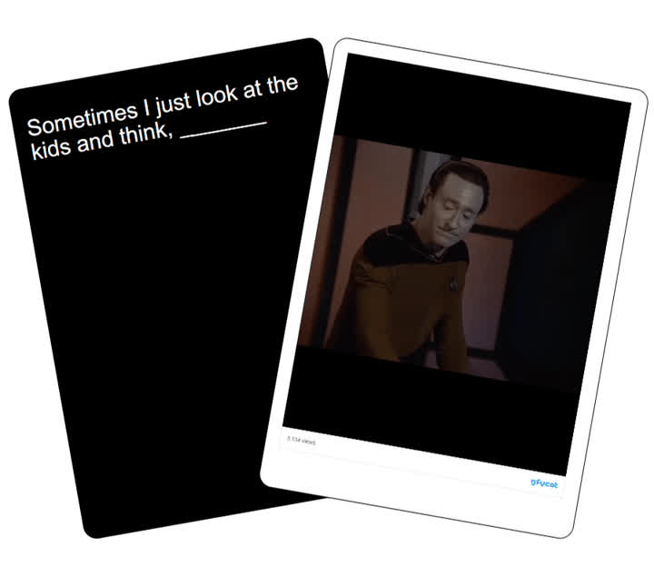 Brent Spiner, Cards Against Humanity, Data, TNG, The Next Generation, Star Trek Gifs Against Humanity GIFs