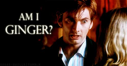 Watch Doctor Who Tenth Doctor Am I ginger GIF on Gfycat. Discover more david tennant GIFs on Gfycat