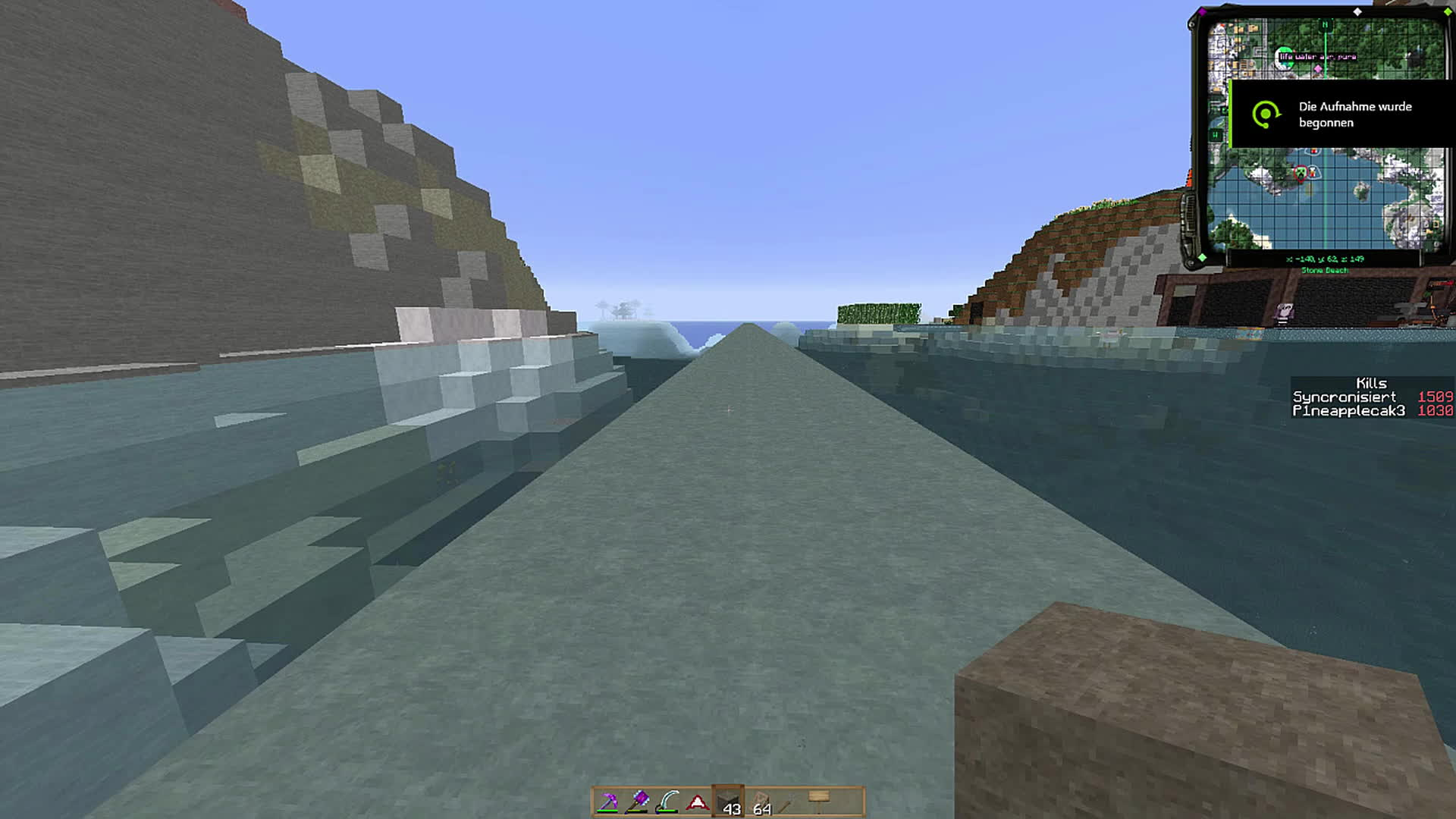 feedthebeast, If you put water on Chisel's concrete you can get pretty fast (reddit) GIFs