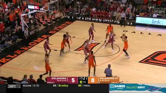 mla313, College Basketball: Oklahoma at Oklahoma State   ESPN U   Clippit GIFs