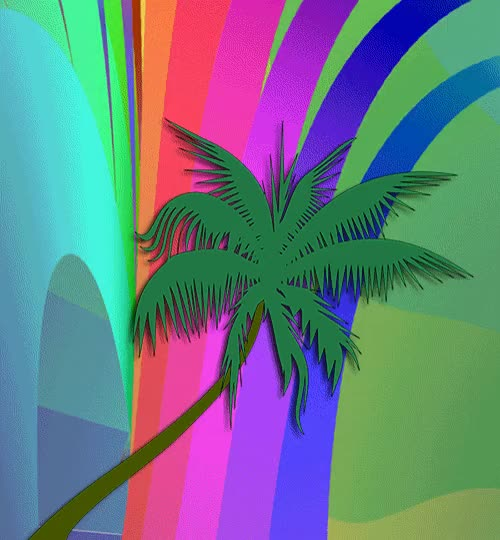 Watch and share Psychedelic Palm Tree Gif GIFs on Gfycat