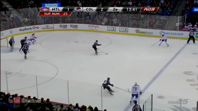 Watch and share Andrei Markov Open Net Power Play Goal - Montreal Canadiens Vs Colorado Avalanche (12-01-2014) GIFs by drakemt on Gfycat