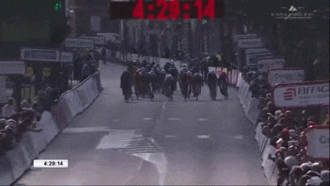 BetterEveryLoop, SuperAthleteGifs, nevertellmetheodds, With 100m to go, cyclist weaves his way from 12th to 1st GIFs