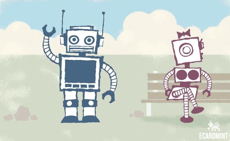 Cute, Ecard, Funn, Heart, Love, Robot, Robo Love GIFs