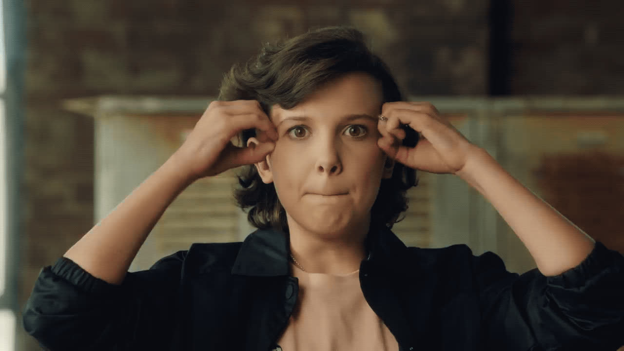 Millie Bobby Brown, converse, intense, mind blown, omg, wow, millie_converse_mindblown GIFs