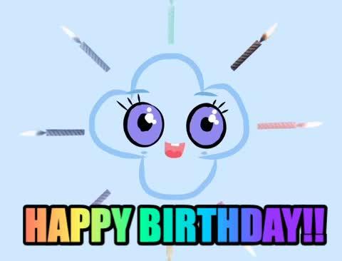 Watch and share Happy Birthday Cute GIFs and Kawaii Birthday GIFs by Mochicloud on Gfycat