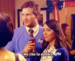 Watch this dabble GIF by Absolute Unit 🔥🔥 (@entfanatic) on Gfycat. Discover more andy dwyer, april ludgate, aubrey plaza, chris pratt, dabble, i dabble, parks and rec, parks and recreation GIFs on Gfycat