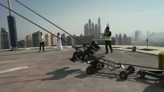 Watch and share Careem Human Slingshot Stunt In Dubai REVEALED! ;) GIFs on Gfycat