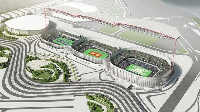 Watch and share Rio Olympics Wilkinson Eyre Arenas Cariocas Rio De Janeiro Designboom GIFs on Gfycat