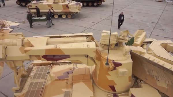 This is the Terminator tank support vehicle. Lots more gfys from RAE 2013 in comments. (reddit) GIFs